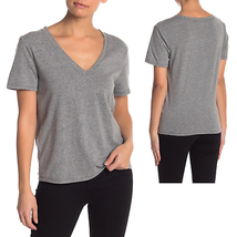 BP NWT Womens 4X Gray V Neck Short Sleeve Tee Shirt - $9.47