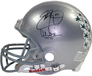 Eddie George signed Ohio State Buckeyes Full Size Authentic Helmet w/ Archie Gri