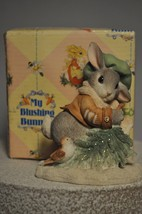 My Blushing Bunnies - Wintertime Blessings - Bunny with Tree and Bird - ... - $14.63