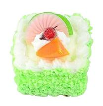Set of 2 Artificial Cake Lifelike Cake Model Fake Cake Decoration, Green - $14.19