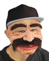 Robert No Dinero Mask Mustache Immigrant Mobster Halloween Costume Party... - $64.95 CAD