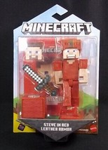 Minecraft Comic Maker pack STEVE IN RED LEATHER ARMOR NEW - $12.16