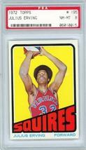 1972 Topps Julius Erving Rookie #195 PSA 8 P878 - $5,093.78