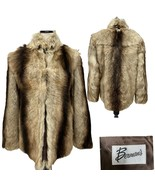 Vintage Berman's Dyed Nanny Goat Fur Coat Women's Size Small- Made in Ho... - $247.50