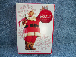 Coca Cola Collectible Playing Cards Bicycle Brand 2008 Holiday Santa Claus - $3.47