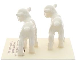 Hagen-Renaker Miniature Ceramic Lamb Figurine Baby White Set of 2 image 4