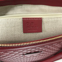 NEW GUCCI Microguccissima Leather Zip Top Crossbody Handbag image 11