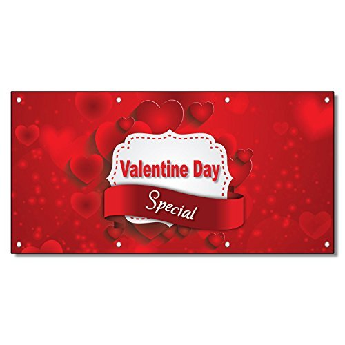 Valentine Day Special Business 13 Oz Vinyl Banner Sign With Grommets 2 Ft X 4 Ft