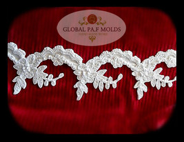 Sugarcraft Mold Polymer Clay Molds Cake Decorating Tools/ lace mold 6632-76 - $35.53