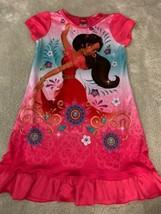 Disney Elena Of Avalor Girls Pink Blue Purple Flowers Short Sleeve Night... - $8.33