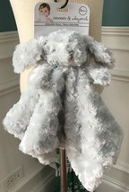 BLANKETS & BEYOND GREY CURLY PUPPY SECURITY BLANKET LOVEY   NWT - $15.99