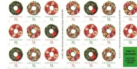1998, Holiday Greetings, Full Sheet, USPS Stamps, Never Used, 32 cent - $7.25
