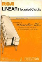 Rca Linear Integrated Circuits * SSD-201C * Cdrom * Pdf - $8.99