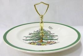 Spode Árbol de Navidad 1-tier Bandeja Plato Centro Mango Vacaciones - $20.78
