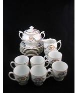Czechoslovakia Union China Tea Set Cups/Saucers... - $65.00