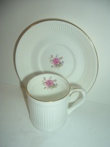 Crown Staffordshire England Danbury Mint Cup & Saucer - $24.99
