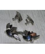 Vintage Lot of 2 Atomic Spray & Ridged Diamond Shape SIlvertone Screwbac... - $9.49