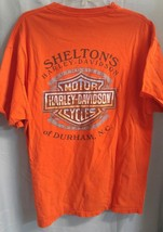 Harley Davidson Durham NC T-Shirt Distressed Sheltons motorcycle Made in... - $17.66