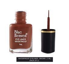 Blue Heaven Water Proof Regular Eyeliner - Brown, Brown, 7 ml (Pack of 2) - $9.49