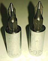 "KD Tools 414101 1-5/8"" Length 1/4"" Drive #1 Phillips Bit Socket USA 2PCS - $3.96"