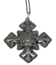 Reed & Barton 1976 Christmas Snowflake Necklace Pendant Sterling Silver - $33.81