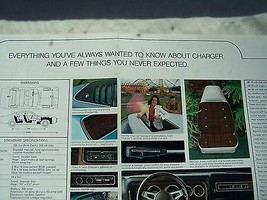 1974 Dodge Charger 440 Owners Sales Brochure Parts Service - $14.99