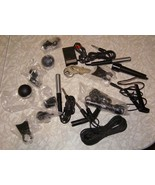 Audio Equipment Accessories Cords Lot Microphone Wind Screen Wires Etc - $33.99