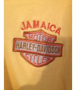 Harley Davidson Polo style shirt Jamaica sz M Medium Yellow white strip - $9.75