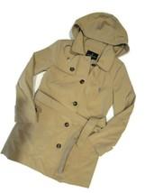 London Fog Trench rain dress Coat w removable hood British Khaki size Me... - $109.35
