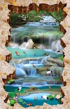 3D Fisch Stein Wasser 051 Fototapeten Wandbild Fototapete Bild Tapete Famili - $68.83+