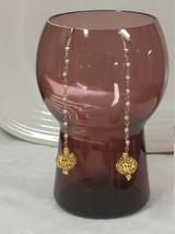 Vtg Upcycle Gold Dangle Lantern Earrings - $26.73