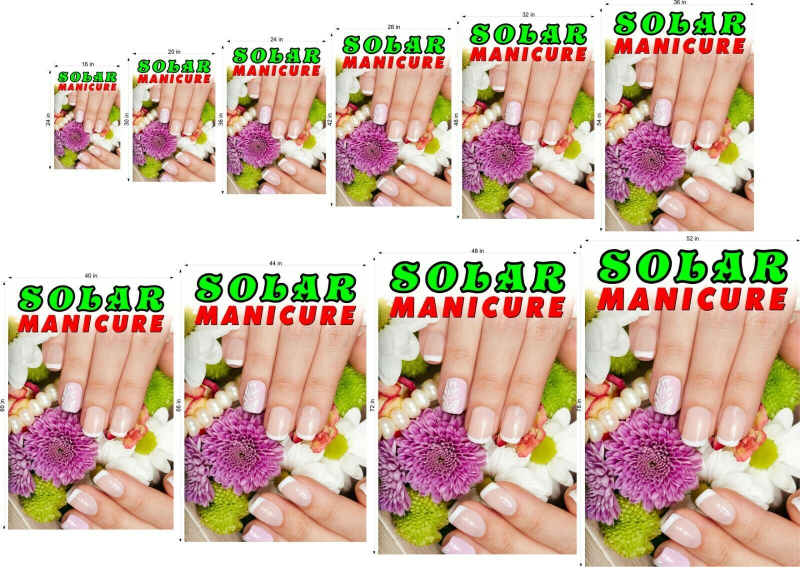 Solar VII Perforated 70/30 See Through Window Poster Service Nail Salon Vertical