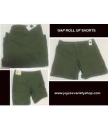 GAP Boyfriend Roll Up Shorts Khaki Green Sz 02 (30W) - $12.99
