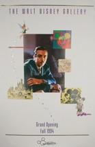 1994 Walt Disney Galerie Grand Ouverture Commémorative Affiche Avec / Sc... - $67.56