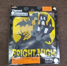 Diamond Shimmer Battery Powered Lighted Fright Night Halloween Window De... - $18.56
