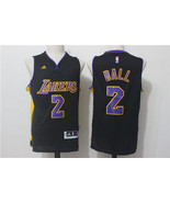 Youth Los Angeles Lakers #2 Lonzo Ball Jersey Black Stitched.jpg - $26.66