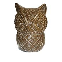Vintage Rustic Pottery Brown Owl Figurine - $34.65