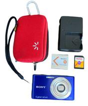 Sony Cyber-shot DSC-W530 14.1MP Digital Camera Purple 4GB Card, Case, And Charge - $39.59