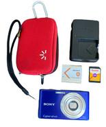Sony Cyber-shot DSC-W530 14.1MP Digital Camera Purple 4GB Card, Case, An... - $39.59
