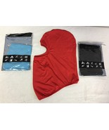 3 Neck Face Warmer Mask Red Light Blue and Black - $22.91