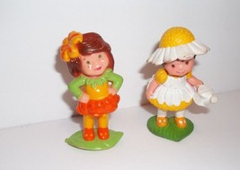 "Avon Little Blossom Mini Dolls SCAMPER & LILY DAISY DREAMER 1983 2.5"" PVC - $10.00"