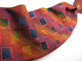 JOHN W NORDSTROM  Multi  ABSTRACT  Made ITALY  Mens 100 SILK Necktie s n... - $9.99
