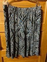CJ Christopher Banks Womens Modest Skirt Black Size 1X (XL) X-Large Floral - $19.98