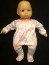 "15"" Bitty Baby plush flowers pjs sleeper pajamas twins girl Doll Clothes... - $12.99"