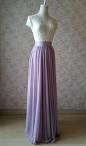 Women High Waisted Maxi Chiffon Skirt Summer Wedding Chiffon Skirts Many Colors image 4