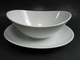 Mikasa Sophisticate White Gravy Boat Attached Underplate - $19.39