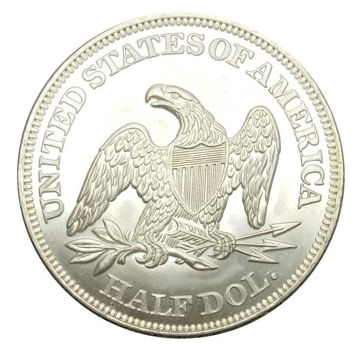 1846 Liberty Seated Half Dollars No Motto Souvenir FantasyToken FREE SHIPPING - $14.99