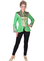 Principal Boy / Circus / Show Jacket / Dance - Green  / Gold Brocade - $39.68
