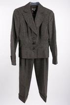 Ann Taylor Women's Suit Dress Pants Blazer Jacket 8P Petite Tweed Brown ... - $39.59