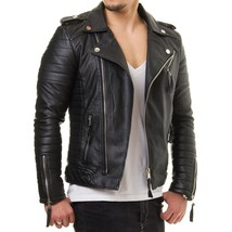 Man black biker jacket, Mens leather jackets Leather jackets for men Men jacket - $179.99